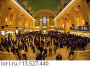 Купить «Travelers crowd Grand Central Terminal in New York, the beginning of the great exodus over the Thanksgiving weekend According to AAA, 43 6 million people...», фото № 13527440, снято 18 ноября 2018 г. (c) age Fotostock / Фотобанк Лори
