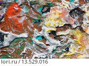 Купить «Красивый рельеф на палитре», иллюстрация № 13529016 (c) Elizaveta Kharicheva / Фотобанк Лори