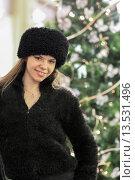 Купить «Beautiful woman and Christmas Moscow Russia», фото № 13531496, снято 30 декабря 2010 г. (c) age Fotostock / Фотобанк Лори