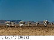 Купить «national, radio, astronomy, observatory, very large array, VLA, Socorro, New Mexico, USA, United States, America, satellite range, dishes, technology», фото № 13536892, снято 27 мая 2019 г. (c) age Fotostock / Фотобанк Лори