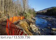 Купить «Trail washout along the Lincoln Woods Trail next to the East Branch of the Pemigewasset River in Lincoln, New Hampshire USA from Tropical Storm Irene in...», фото № 13539736, снято 17 августа 2019 г. (c) age Fotostock / Фотобанк Лори