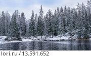 Купить «Карелия. Зимний пейзаж», фото № 13591652, снято 24 ноября 2015 г. (c) Артемий Усатов / Фотобанк Лори