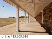 Купить «USA, Kansas, Larned, Fort Larned National Historic Site, mid-19th century military outpost, protecting the Santa Fe Trail, barracks», фото № 13609616, снято 23 апреля 2019 г. (c) age Fotostock / Фотобанк Лори