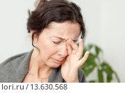 Купить «Sinusitis woman.», фото № 13630568, снято 21 апреля 2018 г. (c) age Fotostock / Фотобанк Лори