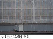 Стена дома, закрытая для реконструкции. Стоковое фото, фотограф Екатерина Гусева / Фотобанк Лори