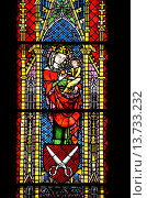 Купить «Freiburg im Breisgau, Baden-Wurttemberg, Germany. Munster Freiburg / Freiburg Cathedral. Stained Glass Window - 'Schneiderfenster' / Tailors' Window (c1330, funded by the Tailors' Guild)», фото № 13733232, снято 10 августа 2010 г. (c) age Fotostock / Фотобанк Лори