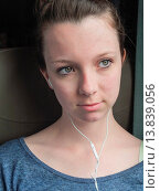 Купить «Teen ager in a train listening to music.», фото № 13839056, снято 22 августа 2018 г. (c) age Fotostock / Фотобанк Лори