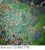 Купить «Italian Garden Landscape,oil on canvas,Gustav Klimt,Leopold Museum,Vienna, Austria, Europe.», фото № 13847776, снято 25 мая 2020 г. (c) age Fotostock / Фотобанк Лори