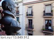 Купить «Sant Pere Mes Alt street, from Palau de la Musica Catalana, by Lluis Domenech i Montaner, Barcelona, Spain.», фото № 13849912, снято 23 апреля 2019 г. (c) age Fotostock / Фотобанк Лори
