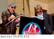 Купить «Harrison Ford & Steven Spielberg at the Ceremony honoring Harrison Ford with the 2,226th star on the Hollywood Walk of Fame. Hollywood, California. May...», фото № 13915572, снято 30 мая 2003 г. (c) age Fotostock / Фотобанк Лори