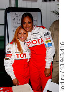 Lil Kim & Laila Ali - Long Beach/California/United States - TOYOTA GRAND PRIX OF LONG BEACH CELEBRITY-PRO RACE: RACE DAY (2004 год). Редакционное фото, фотограф visual/pictureperfect / age Fotostock / Фотобанк Лори