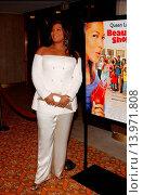 Queen Latifah - Westwood/California/United States - BEAUTY SHOP WORLD PREMIERE (2005 год). Редакционное фото, фотограф visual/pictureperfect / age Fotostock / Фотобанк Лори