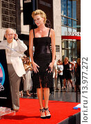 Купить «Charlize Theron - Hollywood/California/United States - CHARLIZE THERON HONORED WITH THE 2,291ST STAR ON THE HOLLYWOOD WALK OF FAME», фото № 13977272, снято 29 сентября 2005 г. (c) age Fotostock / Фотобанк Лори