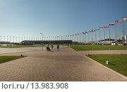 Купить «Центральная площадь в Олимпийском парке днем», фото № 13983908, снято 23 июля 2015 г. (c) Александр Фрейдин / Фотобанк Лори