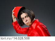 Купить «Man wearing red fez hat», фото № 14028508, снято 30 сентября 2015 г. (c) Elnur / Фотобанк Лори