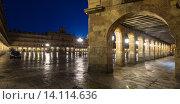 Купить «Plaza Mayor in evening time. Salamanca», фото № 14114636, снято 18 ноября 2014 г. (c) Яков Филимонов / Фотобанк Лори