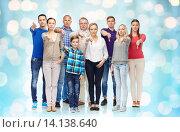 Купить «group of people giving thumbs down», фото № 14138640, снято 21 октября 2015 г. (c) Syda Productions / Фотобанк Лори