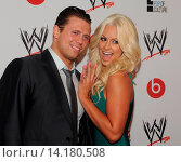 Michael The Miz Mizanin and Maryse Ouellet - Beverly Hills/California/USA - WWE SUPERSTARS FOR HOPE RED CARPET EVENT (2013 год). Редакционное фото, фотограф visual/pictureperfect / age Fotostock / Фотобанк Лори