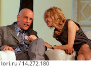 Купить «John Malkovich, Ingeborga Dapkunayte - Moscow/Russia - JACOMO VARIATIONS PLAY MAKERS' PRESS-CONFEREN», фото № 14272180, снято 9 октября 2013 г. (c) age Fotostock / Фотобанк Лори