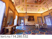 """Купить «""""""""""""The Antichamber to the bedroom of Francis II"""". The vault of the room is painted with a trompe-l'oeil depicting a Bacchanal by Franz Hill.The Bourbon Kings of Naples Royal Palace of Caserta, Italy.», фото № 14280532, снято 30 мая 2012 г. (c) age Fotostock / Фотобанк Лори"""