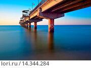 Купить «Baltic Sea - Mi?dzyzdroje (Misdroy) is a town and a seaside resort in northwestern Poland on the island of Wolin on the Baltic coast. Previously in the...», фото № 14344284, снято 23 июля 2019 г. (c) age Fotostock / Фотобанк Лори
