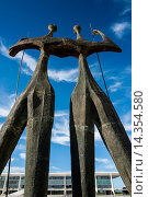 Купить «Dois Candangos (The Warriors), monument of builders of Brasilia, Brazil, South America», фото № 14354580, снято 22 мая 2019 г. (c) age Fotostock / Фотобанк Лори
