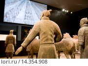 Купить «Terracotta warriors on display in the Shaanxi History Museum, Xian, China», фото № 14354908, снято 24 апреля 2019 г. (c) age Fotostock / Фотобанк Лори