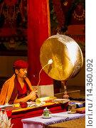Купить «Monks chanting, Hemis Monastery, Ladakh, Jammu and Kashmir State, India.», фото № 14360092, снято 20 августа 2013 г. (c) age Fotostock / Фотобанк Лори