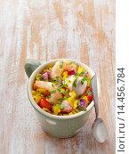 Купить «Paella in a mug», фото № 14456784, снято 9 февраля 2014 г. (c) age Fotostock / Фотобанк Лори