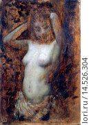 Study for a Nude (Studio di nudo), by Demetrio Cosola, 1890, 19th Century. Italy, Piedmont, Turin, GAM, Civic Collection of Modern and Contemporary Art... Редакционное фото, фотограф Sergio Anelli / age Fotostock / Фотобанк Лори