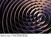 Абстрактный фон из объёмных спиралей. Стоковая иллюстрация, иллюстратор EugeneSergeev / Фотобанк Лори