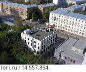 Купить «Вид сверху на пересечение Первомайской и 13-й Парковой улиц. Москва», эксклюзивное фото № 14557864, снято 21 сентября 2008 г. (c) lana1501 / Фотобанк Лори