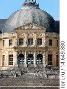 Купить «Vaux le Vicomte castle , Maincy, France.», фото № 14649880, снято 22 октября 2018 г. (c) age Fotostock / Фотобанк Лори