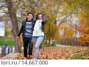 Купить «autumn couple», фото № 14667000, снято 22 октября 2018 г. (c) PantherMedia / Фотобанк Лори