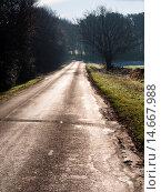 Купить «lonely contryside road,near Matlock,Derbyshire,England.», фото № 14667988, снято 20 января 2014 г. (c) age Fotostock / Фотобанк Лори