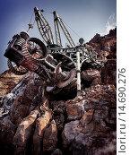 Steampunk fantasy land boring machine at Tokyo Disneysea theme park, Mysterious Island. Japan. Редакционное фото, фотограф Oleksiy Maksymenko / age Fotostock / Фотобанк Лори