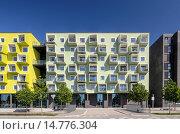 Купить «Oerestad Plejecenter, modern apartment house, by JJW architects, district Oerestad, Amager, Copenhagen, Denmark», фото № 14776304, снято 22 июля 2019 г. (c) age Fotostock / Фотобанк Лори
