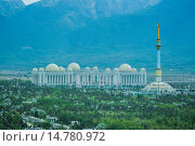 Купить «Ashgabat, Cultural, Turkmenistan, Central Asia, Asia, architecture, center, city, commercial, fountains, independence, marble, monument, new, panorama, park, touristic, travel», фото № 14780972, снято 16 декабря 2017 г. (c) age Fotostock / Фотобанк Лори