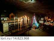 Купить «CRYPT OF CHURCH IN SAINTES MARIES DE LA MER IN PROVENCE - FRANCE», фото № 14823968, снято 28 ноября 2004 г. (c) age Fotostock / Фотобанк Лори