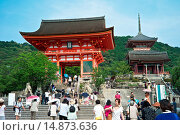 Купить «Kiyomizu-dera Temple classified as a UNESCO World Heritage by UNESCO.», фото № 14873636, снято 17 июля 2013 г. (c) age Fotostock / Фотобанк Лори