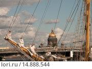 Купить «Бушприт парусного судна. Нева. Санкт-Петербург», эксклюзивное фото № 14888544, снято 9 июля 2009 г. (c) Александр Алексеев / Фотобанк Лори