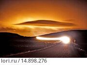 Купить «RING ROAD - ICELAND AT NIGHT», фото № 14898276, снято 10 декабря 2013 г. (c) age Fotostock / Фотобанк Лори