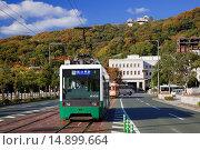 Купить «Tram, Matsuyama, Ehime, Shikoku, Japan», фото № 14899664, снято 19 ноября 2019 г. (c) age Fotostock / Фотобанк Лори