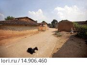 Купить «A view of tribal village. Santhal tribe. Jarkatand village, Bokaro district, Jharkhand», фото № 14906460, снято 4 февраля 2012 г. (c) age Fotostock / Фотобанк Лори