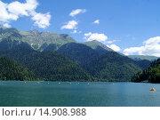 Абхазия, озеро Рица. Стоковое фото, фотограф Александр Парфенов / Фотобанк Лори