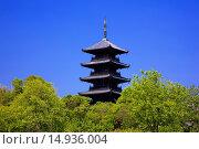 Купить «Bitchu Kokubu temple, Five-Storied Pagoda, buddhist temple, Soja city, Okayama Prefecture, Sanyo, Japan», фото № 14936004, снято 26 марта 2019 г. (c) age Fotostock / Фотобанк Лори