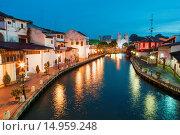 Купить «Malacca River, Malacca, Malaysia», фото № 14959248, снято 14 ноября 2018 г. (c) age Fotostock / Фотобанк Лори
