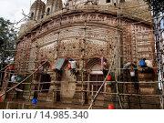 Купить «Restauration works at Vijay Vaidyanath Temple, Lalji temple area, Kalna, Bardhaman District, West Bengal, India, Asia / Restauration am Vijay Vaidyanath...», фото № 14985340, снято 21 сентября 2011 г. (c) age Fotostock / Фотобанк Лори