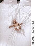 Купить «Baby on bed», фото № 15009752, снято 4 июля 2020 г. (c) age Fotostock / Фотобанк Лори