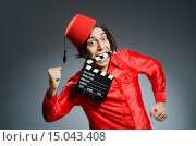 Купить «Man wearing red fez hat», фото № 15043408, снято 30 сентября 2015 г. (c) Elnur / Фотобанк Лори